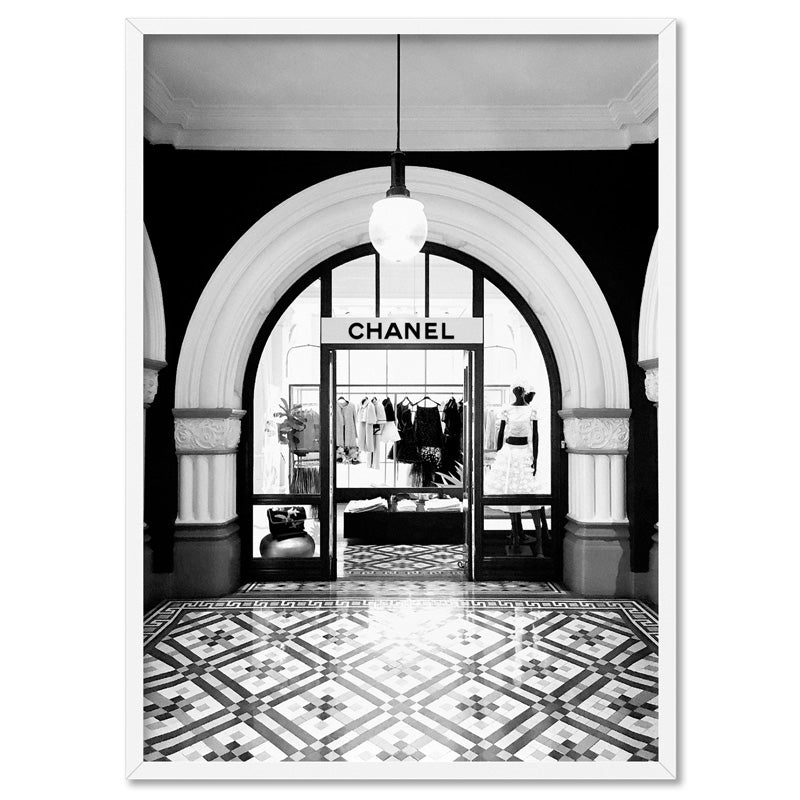 Designer Store Front Arch - Art Print, Stretched Canvas, or Framed Canvas Wall Art