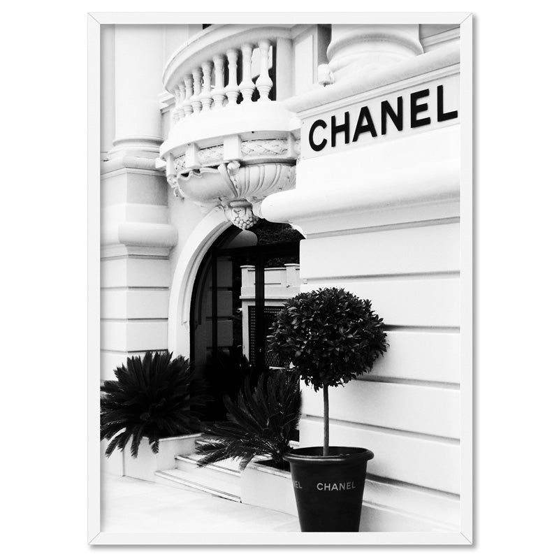 Designer Store Front Monaco Portrait - Art Print, Stretched Canvas, or Framed Canvas Wall Art