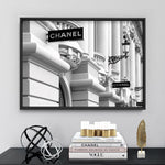 Designer Store Front Monaco Landscape - Art Print, Stretched Canvas, or Framed Canvas Wall Art