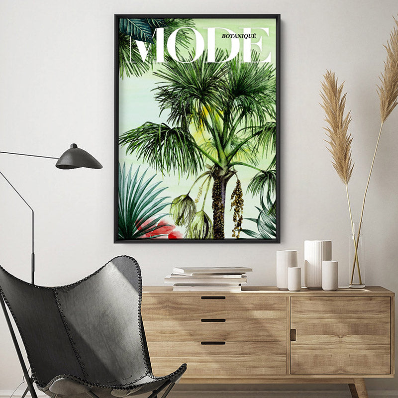 Load image into Gallery viewer, Mode Art & Botanicals Edition - Art Print, Stretched Canvas or Framed Canvas Wall Art, Shown inside a frame