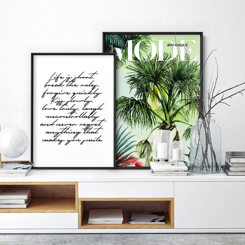 Mode Art & Botanicals Edition - Art Print, Stretched Canvas or Framed Canvas Wall Art, Shown framed in a room mockup