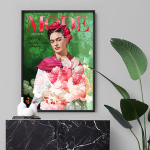 Load image into Gallery viewer, Mode Frida Kahlo Botanicals - Art Print, Stretched Canvas or Framed Canvas Wall Art, Shown inside a frame