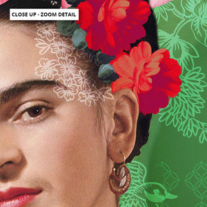 Mode Frida Kahlo Botanicals - Art Print, Stretched Canvas or Framed Canvas Wall Art, Close up View of Print Resolution