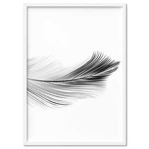 Feather Black & White II - Art Print, Stretched Canvas, or Framed Canvas Wall Art
