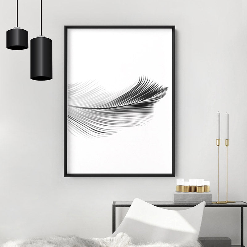 Load image into Gallery viewer, Feather Black & White II - Art Print