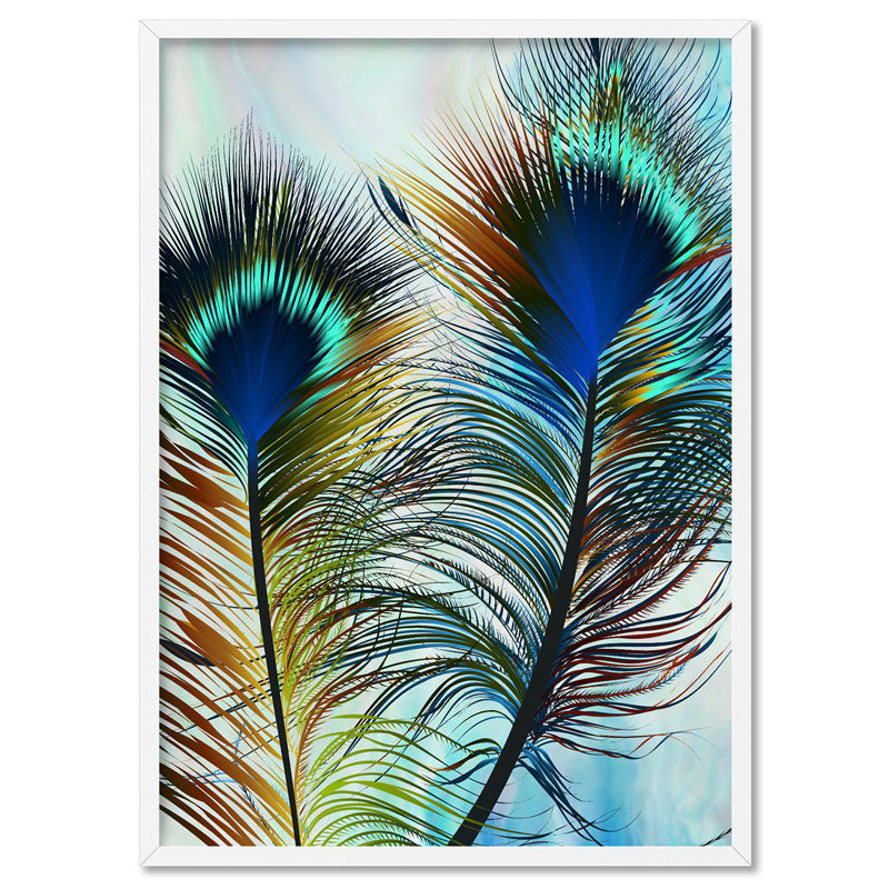 Peacock Feathers - Art Print