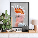 Pink Cockatoo - Art Print, Stretched Canvas, or Framed Canvas Wall Art