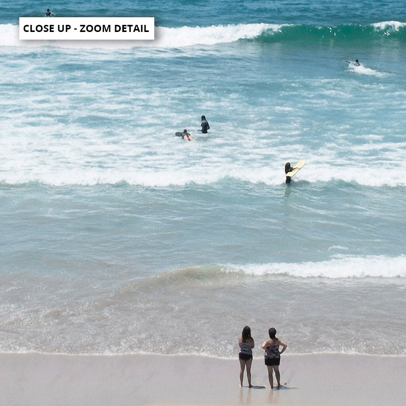 Cronulla Beach Horizon I - Art Print, Stretched Canvas or Framed Canvas Wall Art, Close up View of Print Resolution