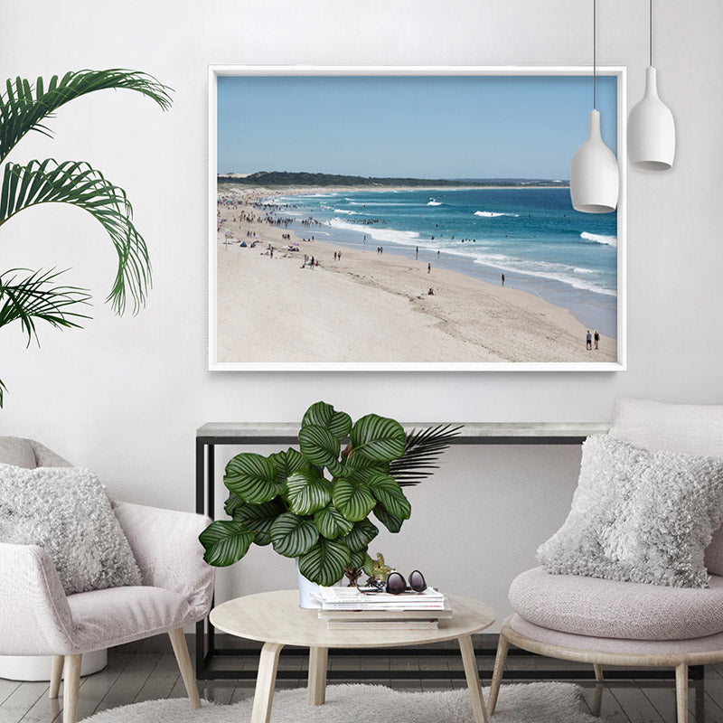 Cronulla Beach Horizon II - Art Print, Stretched Canvas or Framed Canvas Wall Art, Shown inside a frame