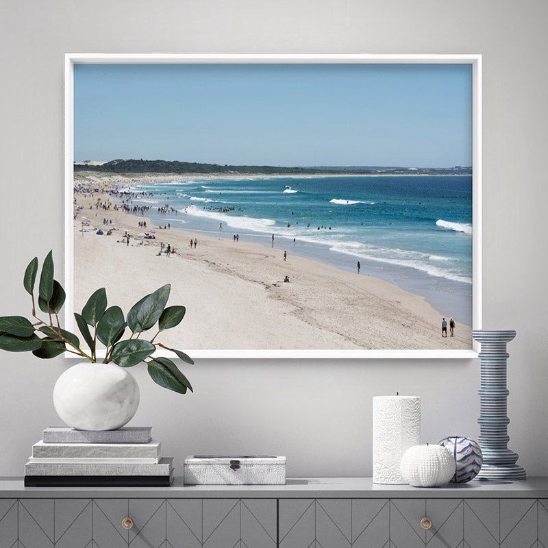 Cronulla Beach Horizon II - Art Print, Stretched Canvas or Framed Canvas Wall Art, Shown framed in a room mockup