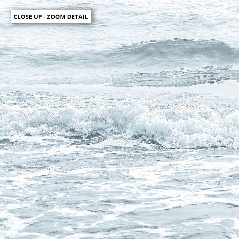 Load image into Gallery viewer, Clear Water Ocean Pastels - Art Print, Stretched Canvas or Framed Canvas Wall Art, Close up View of Print Resolution