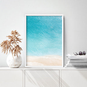 Into the Blue Ocean - Art Print, Stretched Canvas or Framed Canvas Wall Art, Shown inside a frame