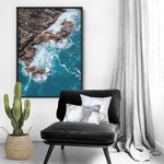 Rocky Coast from Above III  - Art Print, Stretched Canvas, or Framed Canvas Wall Art