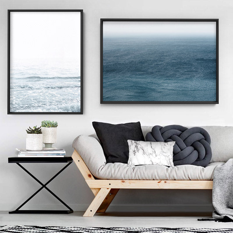 Deep Sea Ocean View in Landscape - Art Print, Stretched Canvas, or Framed Canvas Wall Art