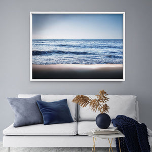 Load image into Gallery viewer, Ocean Vibrance in Blues - Art Print, Stretched Canvas or Framed Canvas Wall Art, Shown inside a frame