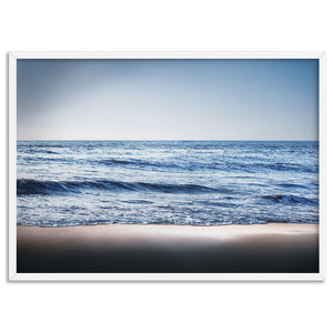 Ocean Vibrance in Blues - Art Print, Stretched Canvas, or Framed Canvas Wall Art