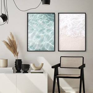 Still I | Reflections - Art Print, Stretched Canvas or Framed Canvas Wall Art, Shown framed in a room mockup