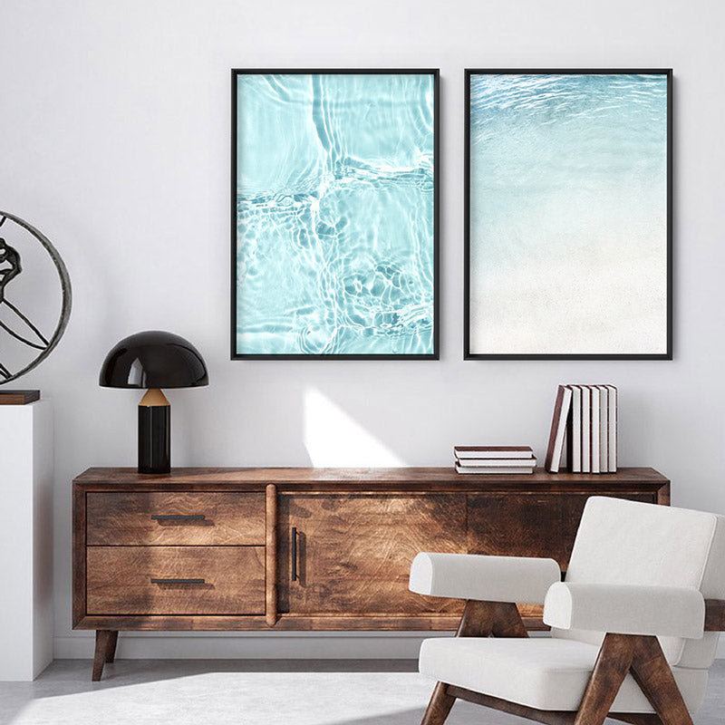 Still III | On the Shore - Art Print, Stretched Canvas or Framed Canvas Wall Art, Shown framed in a room mockup