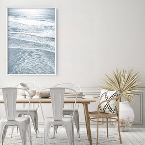 Morning Ocean Alight - Art Print, Stretched Canvas or Framed Canvas Wall Art, Shown framed in a room mockup