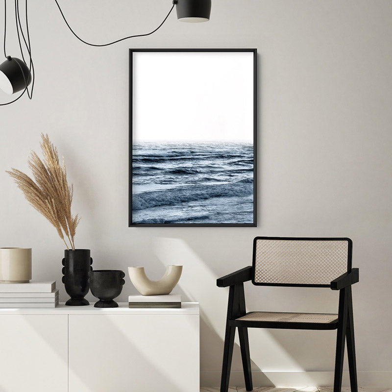 Ocean Waves | Cottesloe - Art Print, Stretched Canvas or Framed Canvas Wall Art, Shown inside a frame