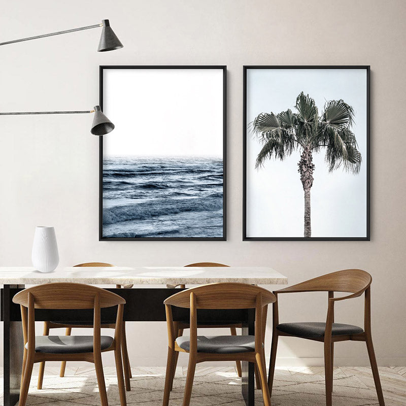 Ocean Waves | Cottesloe - Art Print, Stretched Canvas or Framed Canvas Wall Art, Shown framed in a room mockup