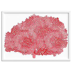 Coral Sea Fan Red - Art Print