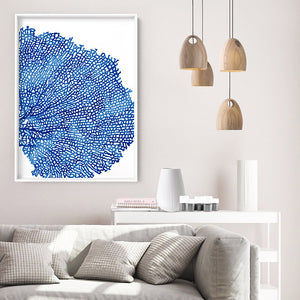 Load image into Gallery viewer, Coral Sea Fan Blue Vertical- Art Print