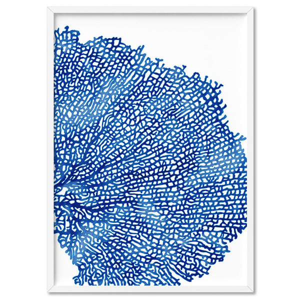 Coral Sea Fan Blue Vertical- Art Print