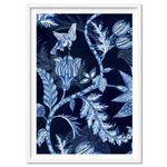 Hamptons Blue Paisley Depths  - Art Print