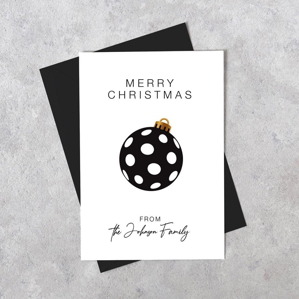 Load image into Gallery viewer, Custom Personalised Christmas Card - Snowflake Stripes
