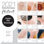2021 Monthly Calendar | Abstract - Digital Download or Printed