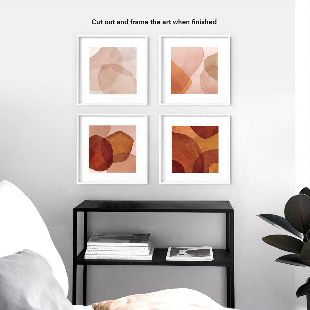 2021 Monthly Calendar | Shown displayed in frames, Cut out and re used as art prints when finished with the calendar