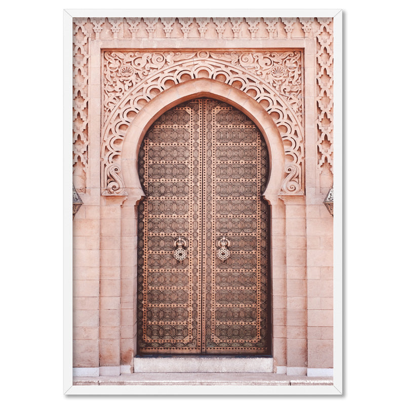 Moroccan Doorway in Blush - Art Print, Stretched Canvas, or Framed Canvas Wall Art