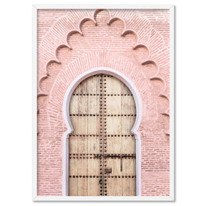 Blushing Arch Doorway Marrakech - Art Print, Stretched Canvas, or Framed Canvas Wall Art