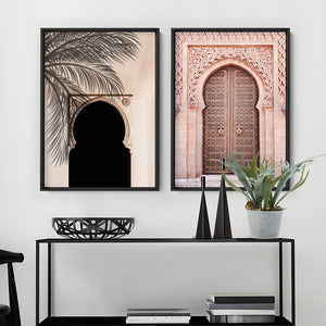 Hideaway in the Moroccan Desert - Art Print, Stretched Canvas or Framed Canvas Wall Art, Shown framed in a room mockup