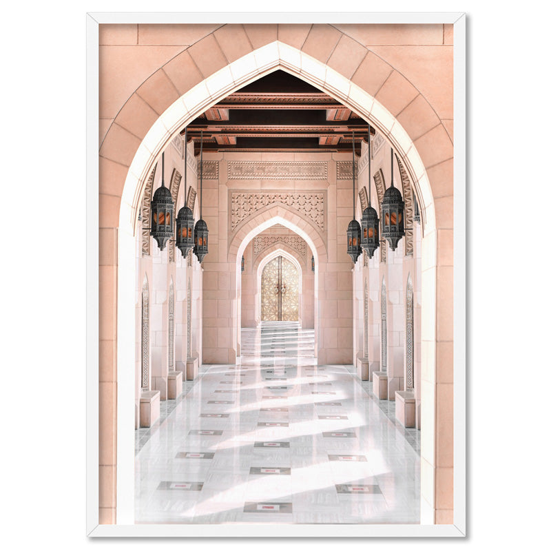 Moroccan Arch Entryway in Blush - Art Print, Stretched Canvas, or Framed Canvas Wall Art