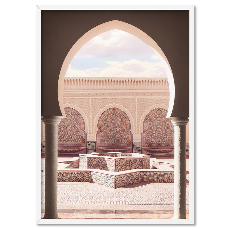 Moroccan Vibes Simple Clean Lines in Pastel Hues Print and Proper DTR-36 Blush Pink Arches Wall Art Boho Minimalist Archway Art Print