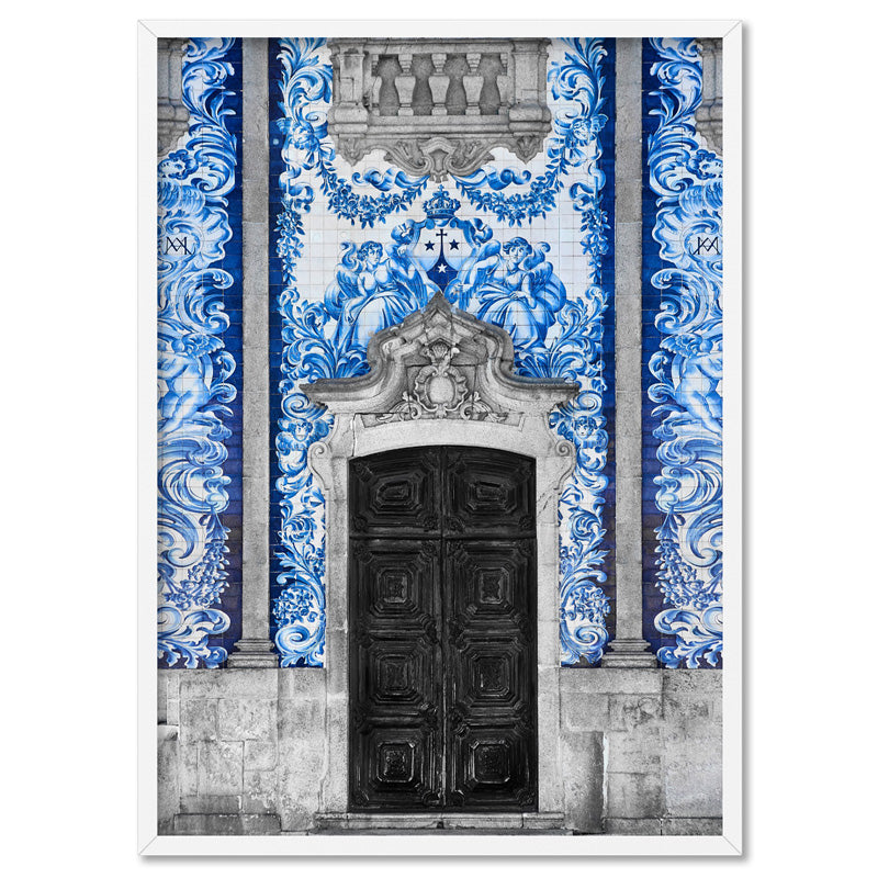 Doorway to Capela das Almas Porto - Art Print, Stretched Canvas, or Framed Canvas Wall Art