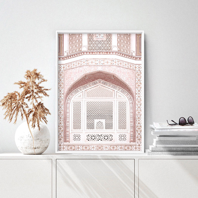Pastel Dreams in the Amber Palace - Art Print, Stretched Canvas, or Framed Canvas Wall Art