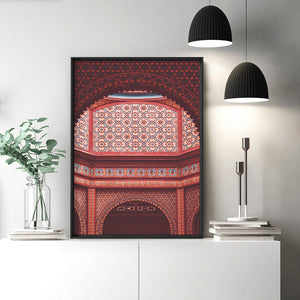 Magic Carpet Ride in Jaipur - Art Print, Stretched Canvas or Framed Canvas Wall Art, Shown inside a frame