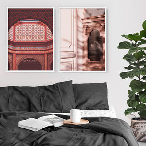 Magic Carpet Ride in Jaipur - Art Print, Stretched Canvas or Framed Canvas Wall Art, Shown framed in a room mockup