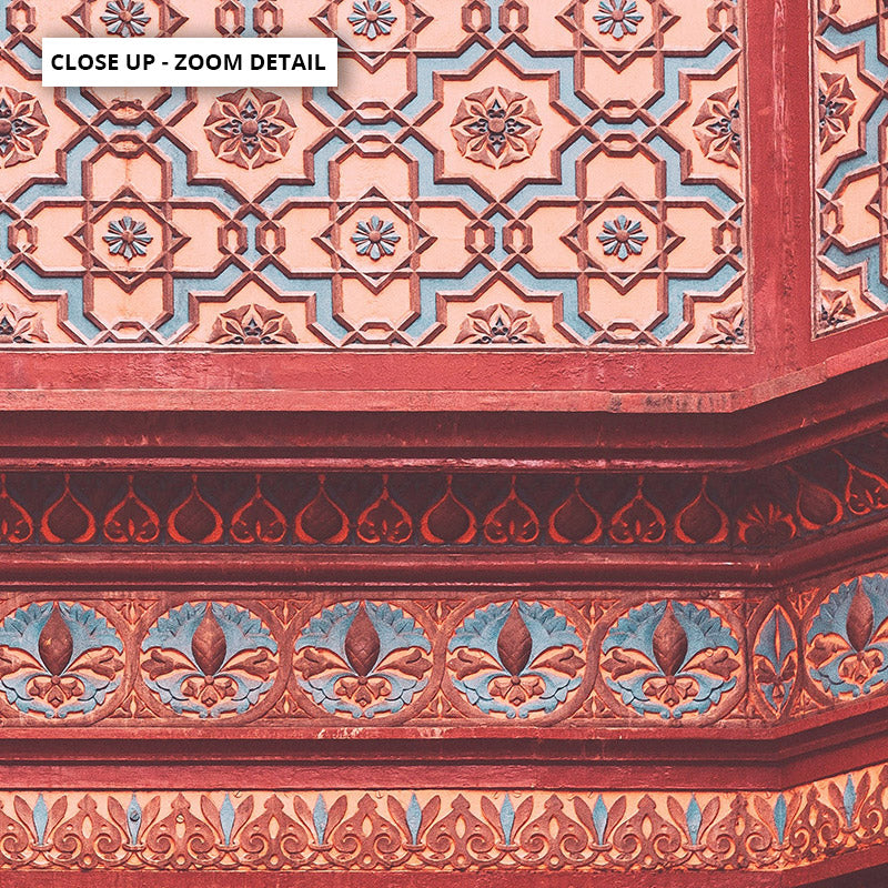 Magic Carpet Ride in Jaipur - Art Print, Stretched Canvas or Framed Canvas Wall Art, Close up View of Print Resolution
