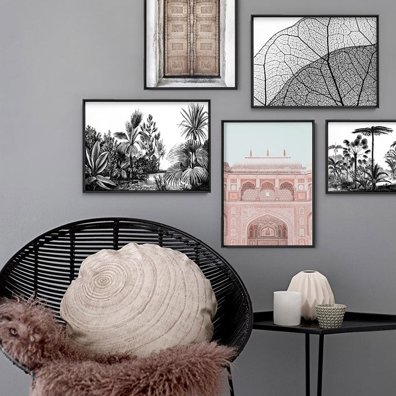 City Palace in Pastels - Art Print, Stretched Canvas or Framed Canvas Wall Art, Shown framed in a room mockup