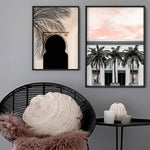 Miami Palms on South Beach - Art Print, Stretched Canvas, or Framed Canvas Wall Art