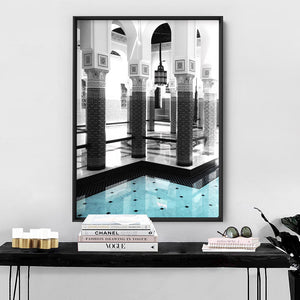 Oriental Poolside Luxe II - Art Print, Stretched Canvas or Framed Canvas Wall Art, Shown inside a frame