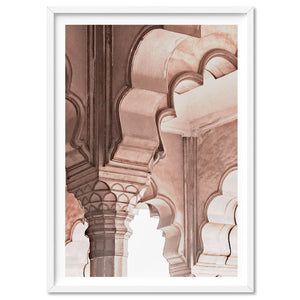 Agra Ornate Arches in Blush II  - Art Print, Stretched Canvas, or Framed Canvas Wall Art
