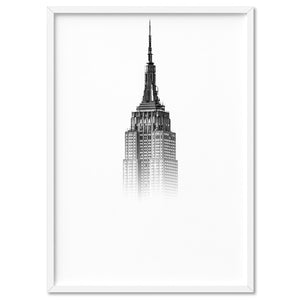 Empire State in the Clouds - Art Print, Stretched Canvas, or Framed Canvas Wall Art