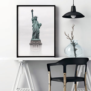 Liberty Enlightening - Art Print, Stretched Canvas or Framed Canvas Wall Art, Shown inside a frame