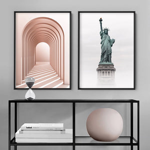 Liberty Enlightening - Art Print, Stretched Canvas or Framed Canvas Wall Art, Shown framed in a room mockup