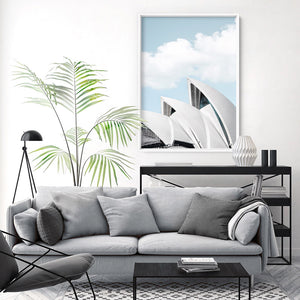 Sydney Opera House View I - Art Print, Stretched Canvas or Framed Canvas Wall Art, Shown inside a frame